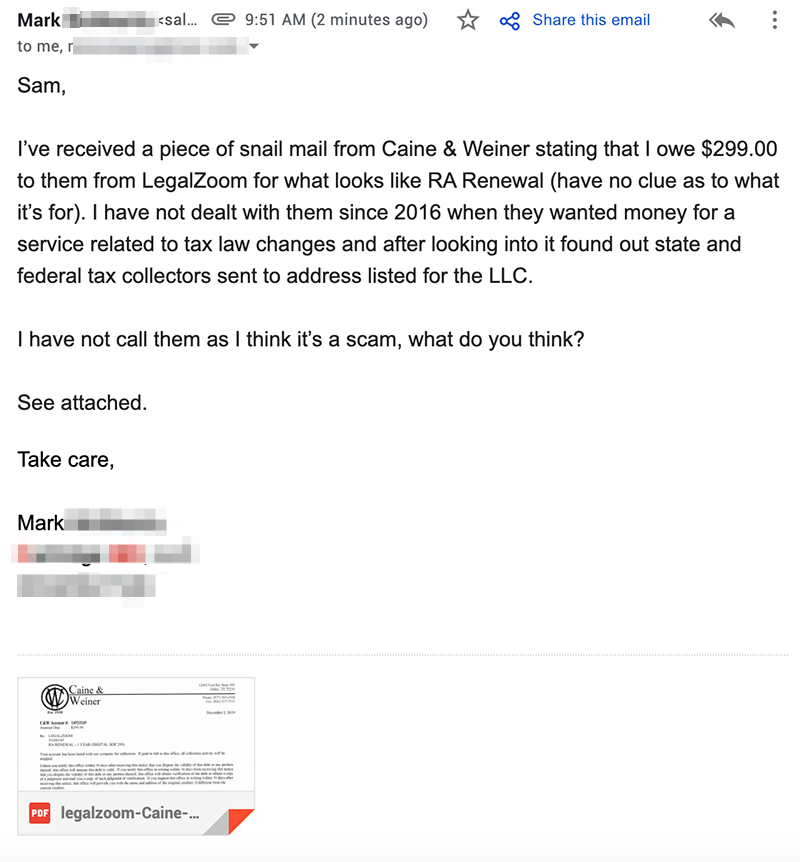 Reason to Never Use LegalZoom