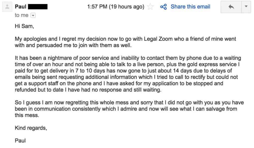 LegalZoom Alternative