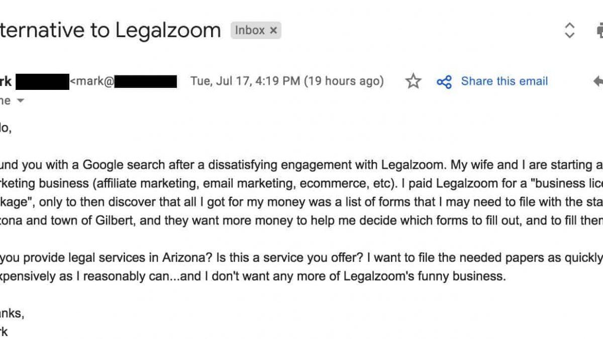 1 Reason To Never Use Legalzoom And What To Do Instead