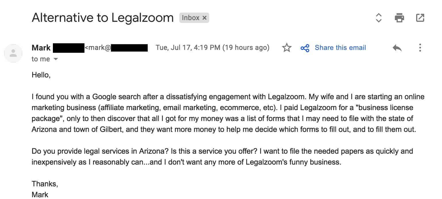 Alternative to Legalzoom
