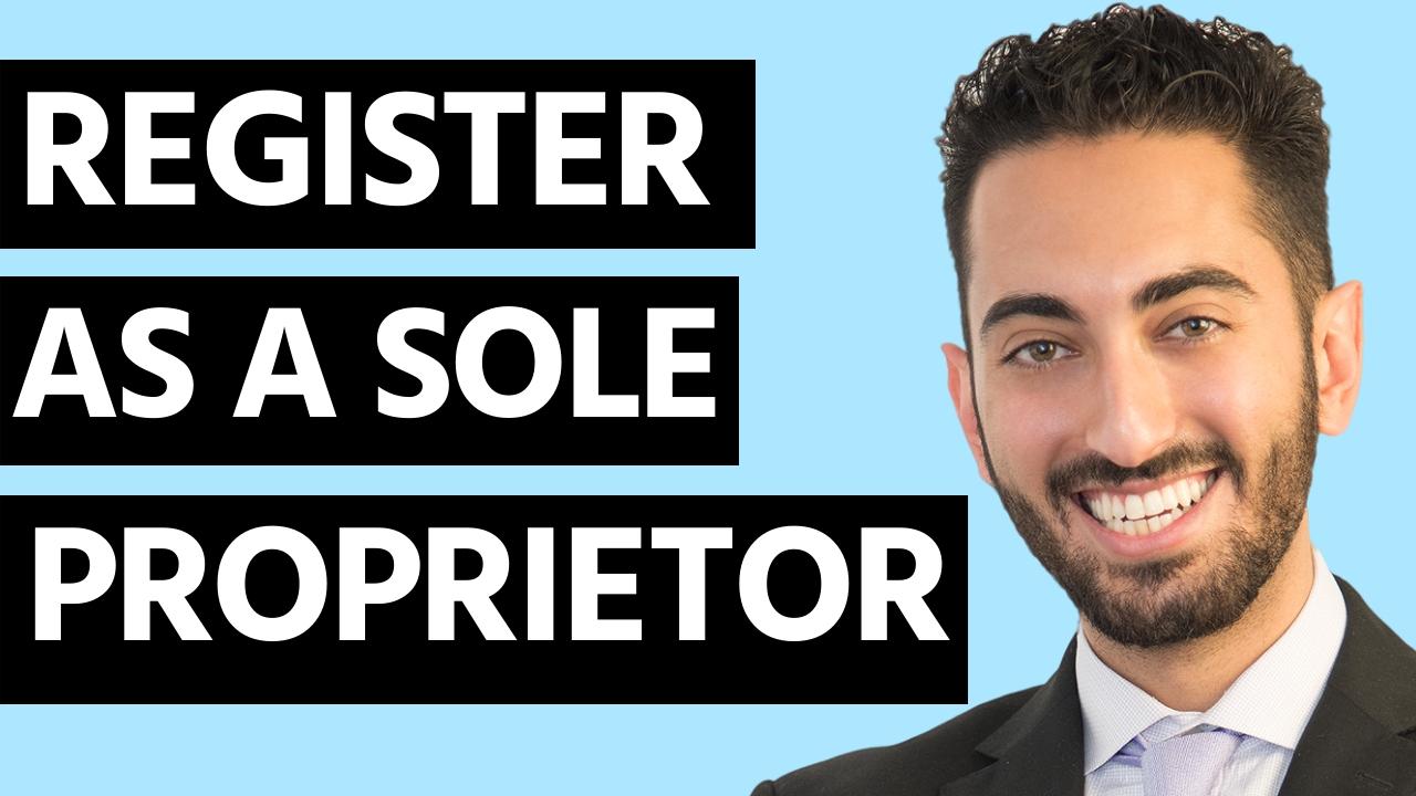 Do you have to register as a Sole Proprietor?
