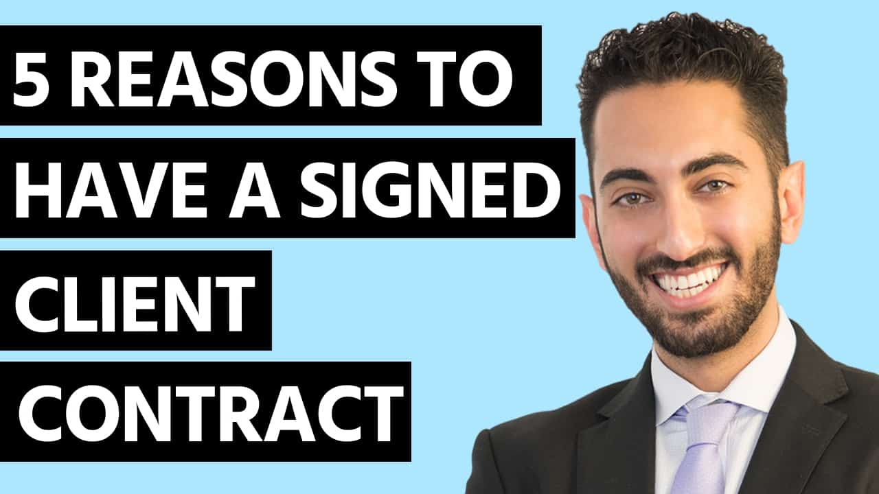 5 Reasons To Have a Signed Client Contract